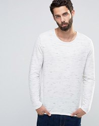 Only And Sons Knitted Jumper In Mixed Slub Yarns Light Grey Marl