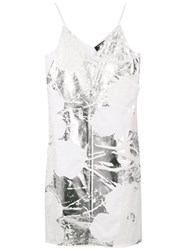 Calvin Klein 205W39nyc Foil And Lace Dress White