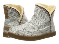 Sanuk Cush N' Blaze Natural Chevron Knit Women's Pull On Boots White