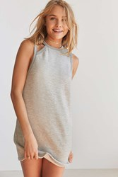 Silence And Noise Cut Out Neck A Line Dress Grey