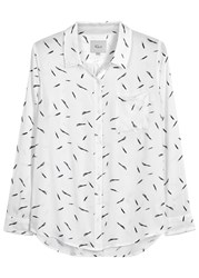Rails Rocsi White Feather Print Shirt