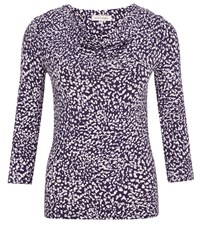 Austin Reed Purple And Lilac Dash Print Top