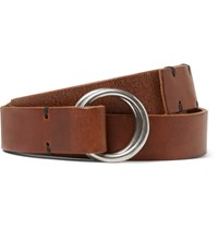 Oliver Spencer 2.5Cm Brown Dock Leather Belt Tan