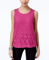 Inc International Concepts Lace Tank Top Only At Macy's Intense Pink