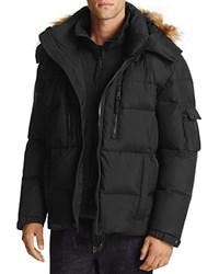 S13 Nyc Tundra Faux Fur Trim Hooded Jacket Compare At 350 Black