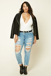 Forever 21 Plus Size Mid Rise Short Jeans Medium Denim