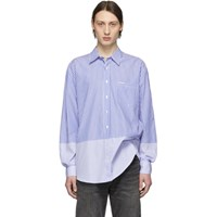 Vetements Blue And White Stripe Double Classic Shirt