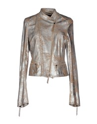 Roberto Cavalli Coats And Jackets Jackets Women Silver