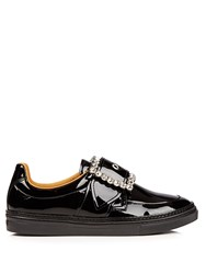 Maison Martin Margiela Crystal Embellished Low Top Leather Trainers Black