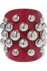 Red Valentino Studded Leather Cuff Red