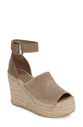 Marc Fisher Women's Ltd Adalyne Platform Wedge Tan Suede