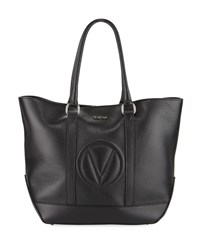 Valentino By Mario Valentino Faith Dollaro Leather Tote Bag Black