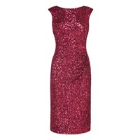 Lk Bennett Quinn Sequin Dress Red