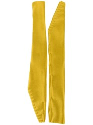 Calvin Klein 205W39nyc Long Length Fingerless Gloves Yellow