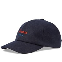 Larose Paris Logo Wool Baseball Cap Blue