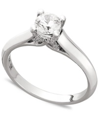 X3 Certified Diamond Engagement Ring In 18K Gold Or 18K White Gold 1 2 Ct. T.W.