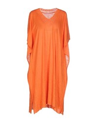 Stefano Mortari Dresses Knee Length Dresses Women Orange