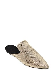 Sanayi313 10Mm Canvas And Metallic Raffia Mules