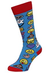 Burton Party Sports Socks Emoji Light Blue