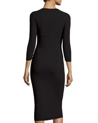 La Petite Robe Di Chiara Boni Serenity 3 4 Sleeve Body Conscious Dress Black 37
