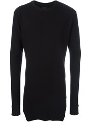 Thom Krom Long Ribbed Sweater Black
