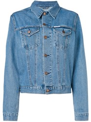 Forte Couture Embroidered Denim Jacket Women Cotton Xs Blue