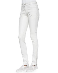 Zadig And Voltaire Evrell Zipper Cuff Leather Pants 38 4