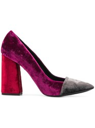 Just Cavalli Block Heel Pumps Pink And Purple
