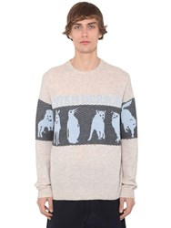 J.W.Anderson Animal Logo Wool Blend Knit Sweater Parchment