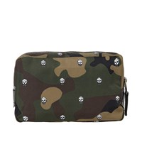 Alexander Mcqueen Skull Camo Wash Bag Green