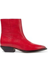 Iro Woman Santiago Studded Leather Ankle Boots Red
