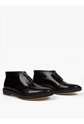 Adieu Black Leather Type 3' Zip Up Boots