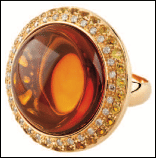 Abellan New York 18K Yellow Gold Round Citrine Cabochon 20.07 Cts Yellow Sapphire 1.55 Cts And Diamonds 0.31 Cts Vs In Clarity Multi