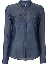Jacob Cohen Chambray Shirt Blue