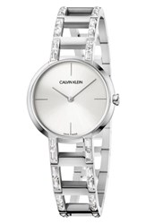 Calvin Klein Cheers Swarovski Bracelet Watch 32Mm Silver