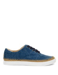 Ugg Eyan Ii Canvas Sneakers Navy Blue