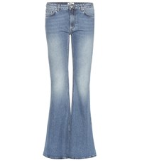 Acne Studios Mello Mid Rise Flared Jeans Blue