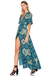 House Of Harlow X Revolve Blaire Wrap Maxi Green
