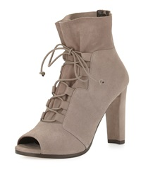 Bound Lace Up Peep Toe Bootie Topo Stuart Weitzman