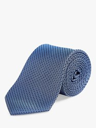 Chester Barrie By Puppytooth Silk Tie Blue