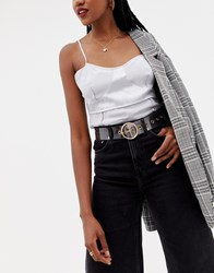 Missguided Circle Belt In Clear
