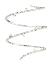 18K White Gold Diamond Snake Bracelet Staurino Fratelli
