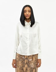 Stelen Ulla Button Up Shirt In Champagne Size Small