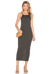 Autumn Cashmere Rib Maxi Dress Gray
