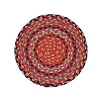 Braided Rug Company Placemats Set Of 6 Chilli