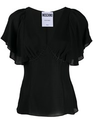 Boutique Moschino Ruffled Sleeve Silk Top 60