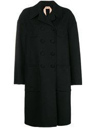 N 21 No21 Boxy Double Breasted Coat Black