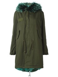 Mr And Mrs Italy Lined Hooded Parka Green