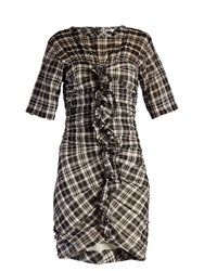 Etoile Isabel Marant Wallace Checked Mini Dress Black White