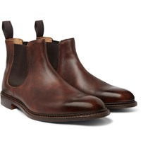 Tricker's Roxbury Leather Chelsea Boots Brown